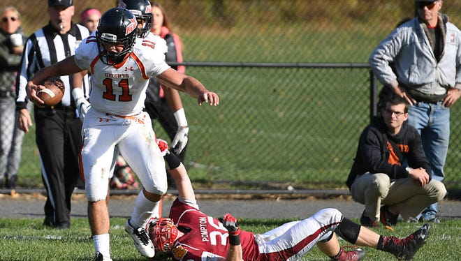 Hasbrouck Heights quarterback Frank Quatrone, shown here against Pompton Lakes, has been one of the top offensive players in North Jersey this season.