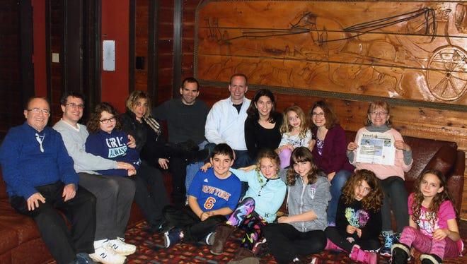 Shelley and Irv Gerber, their children and grandchildren.