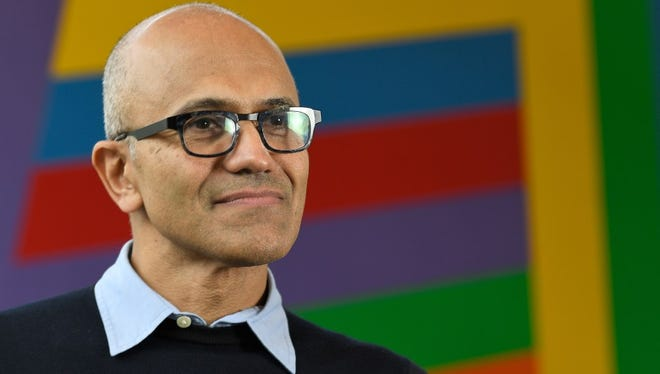 Satya Nadella, 49, took over as Microsoft CEO three years ago this month. He has pushed a major cultural shift at the tech giant, and in the coming years must deliver on big bets ranging from a LinkedIn acquisition to the mixed reality computing vision of HoloLens.