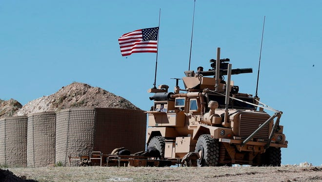 A U.S. military position in northern Syria on April 4, 2018.