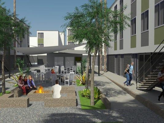 Lat33 Courtyard Rendering 3
