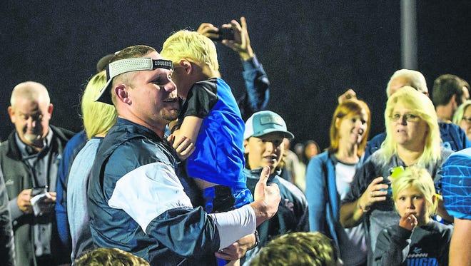 Logan County High School football coach Todd Adler