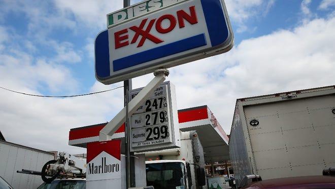 Exxon gas station, Brooklyn, N.Y., Oct. 28, 2016.