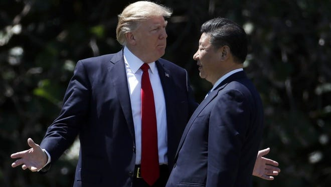 President Trump and Chinese President Xi Jinping on April 7, 2017, in Florida.