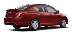 The Versa sedan exterior is highlighted by its bold