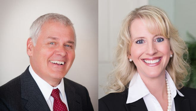 Michael Hawkins, left, and Julie Spiro have been appointed to the Economic Development Partnership of North Carolina board.
