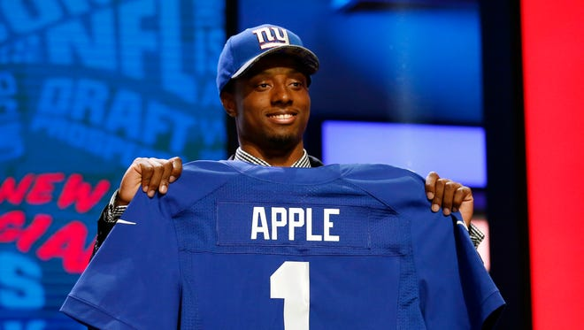 New Jersey native Eli Apple was drafted by the Giants after being coached in college by Rutgers coach Chris Ash.