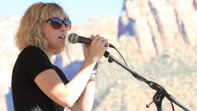"""Lottie Darger performs during the 2016 Zion Canyon Music Festival. Her debut album, """"Life in the Desert,"""" is the best local album of 2016."""