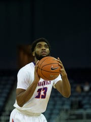 Evansville sophomore K.J. Riley leads the Aces in free throw makes (24) and attempts (32) despite playing just 14.4 minutes per game.