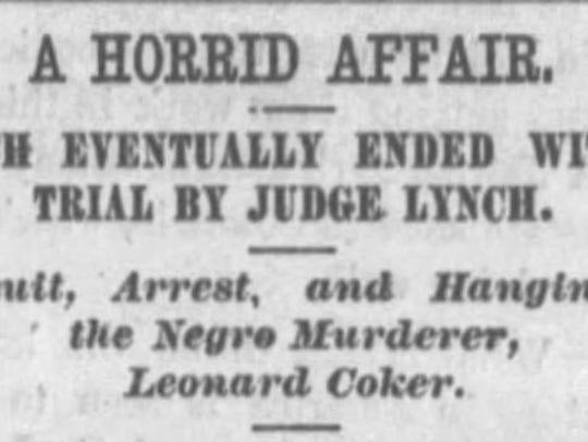 Newspaper accounts from time derided lynching in practice,