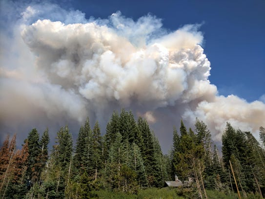 A photo of the Empire Fire, located in Yosemite National