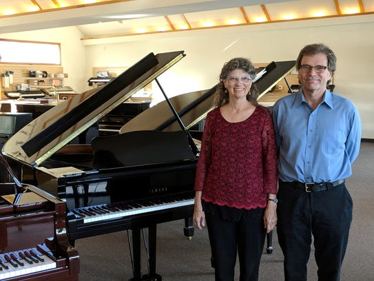 Ted and Mary Ellen Mitchell, owners of Mitchell Piano