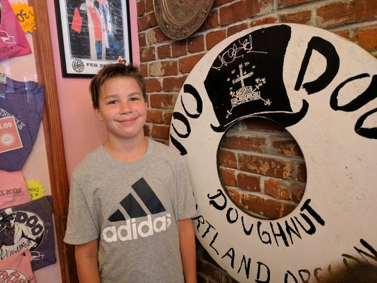 Iden Elliott at Voodoo Donuts in Portland last year.