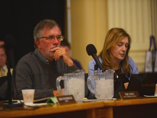 Burlington councilors Tom Ayres, D-Ward 7, and Karen