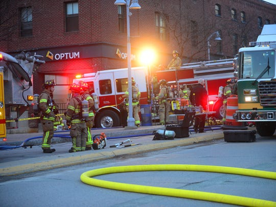 Winooski firefighters and state hazmat personnel investigated a suspected drug lab in a downtown building on March 8.