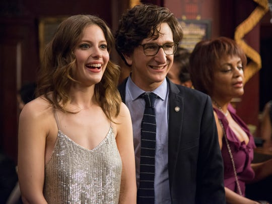 """Gillian Jacobs and Paul Rust on the set of """"Love."""""""