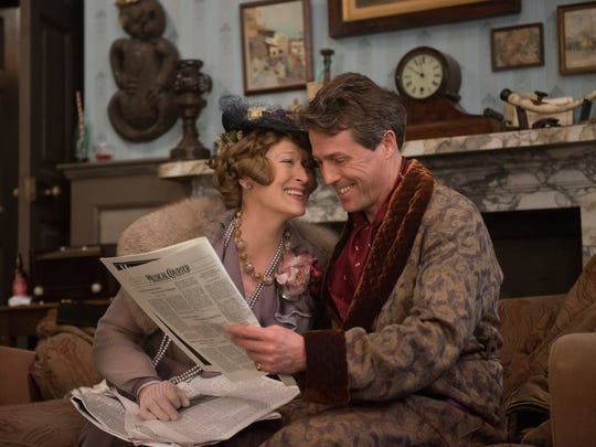 """Florence (Meryl Streep) and St. Clair Bayfield (Hugh Grant) appear to be happily married in """"Florence Foster Jenkins."""""""
