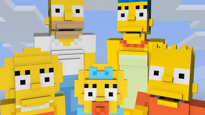 """The family Simpson, arriving in """"Minecraft"""" on Xbox 360 and Xbox One in February."""