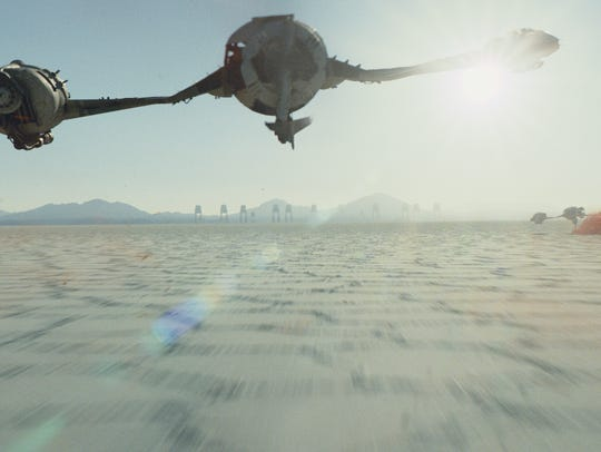 A battle on the planet Crait.