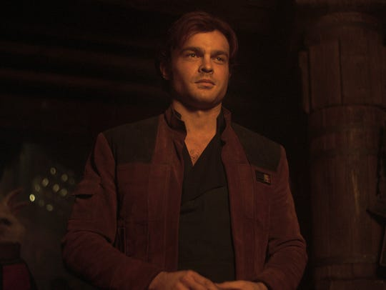 "Alden Ehrenreich plays Han Solo in ""Solo: A Star Wars"