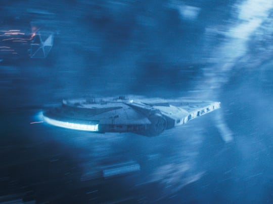 "The Millenium Falcon in ""Solo: A Star Wars Story."""