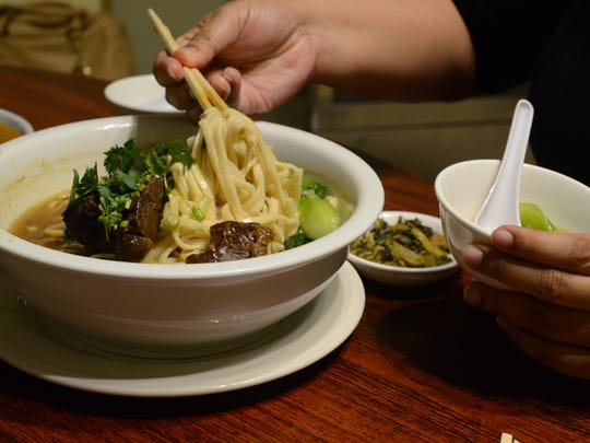 The Taiwan braised beef noodle soup at the Fortune Cookie Thai and Taiwan Cuisine restaurant in Harmon on May 27.