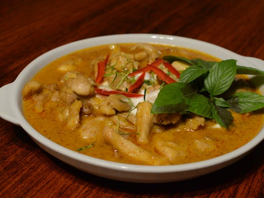 The chicken Penang curry dish at the Fortune Cookie Thai and Taiwan Cuisine restaurant in Harmon on May 27.