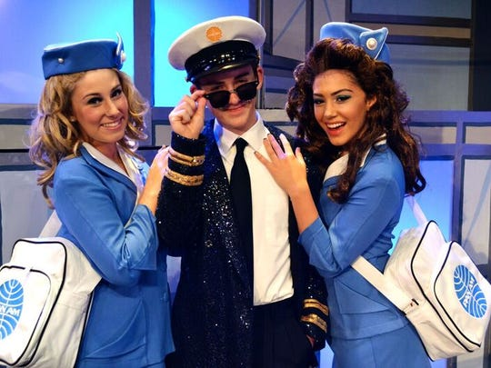 """Alexandra Igoe, Sawyer True, and Julia Hajjar, in the KidzAct's new play """"Catch Me If You Can, The Musical"""" opening Aug. 5."""