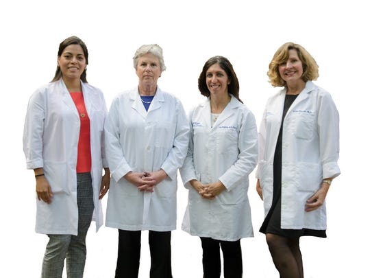 The Saint Peter's Breast Center team (from left): surgeons