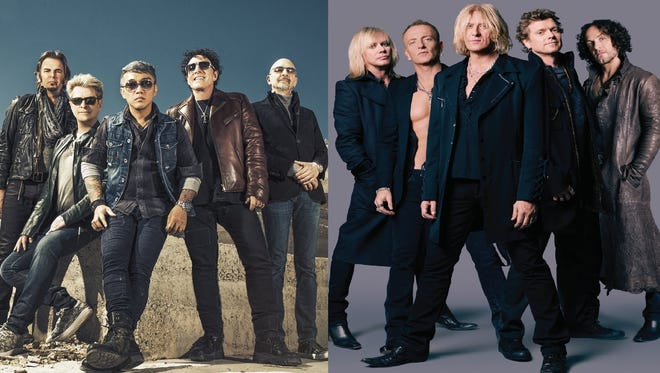 Journey (left) and Def Leppard will play at Madison Square Garden and Prudential Center as part of a 2018 tour.