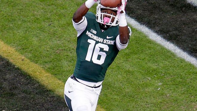 Michigan State wide receiver Aaron Burbridge.