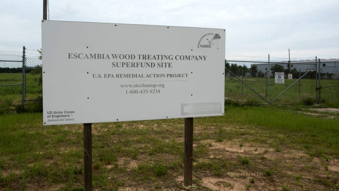 Escambia County is expected to take ownership of a Superfund site northwest of the intersection of North Davis Highway and Fairfield Drive. The county plans to develop the property into the Midtown Commerce Park.