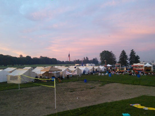 5-25-2014 indy glamping sunrise