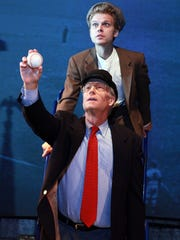 "Peter Carey, front, as Ernie Harwell with TJ Corbett in the 2014 production of ""Ernie"" at City Theatre."