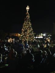A huge social draw on the island is the annual lighting of the Christmas tree.