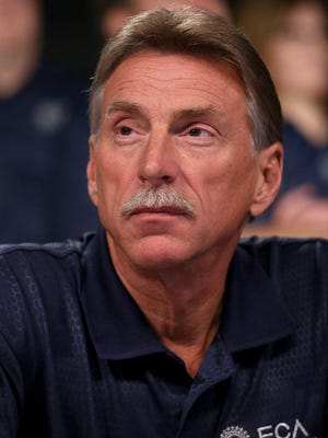 UAW Vice President Norwood Jewell at an event to mark the ceremonial beginning of its contract talks with Fiat Chrysler at the UAW-Chrysler National Training Center in Detroit on Tuesday, July 14, 2015.