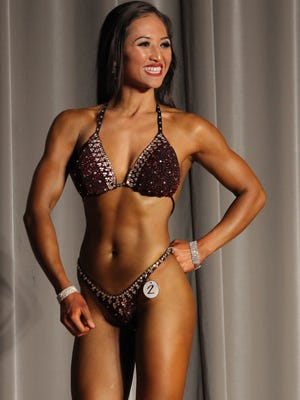Shalane Chaco competes in the National Body Fitness Short Class Division at the 2013 Michelob Ultra Guam National Body Building and Body Fitness Championships and International Invitation at the LeoPalace Resort.