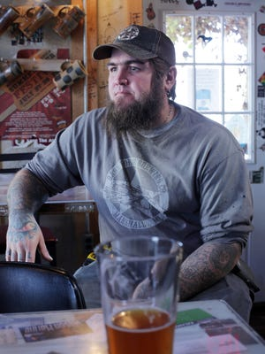 Dark Horse Brewing, Co. is a local brewery founded by Aaron Morse, 40. It is located in Marshall, Mich. at 511 S. Kalamazoo Ave. He sits in the Taproom speaking with the Detroit Free Press about his business Monday, Nov. 2, 2015.