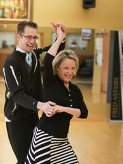 Michelle Allen of Oxford demonstrates dancing with