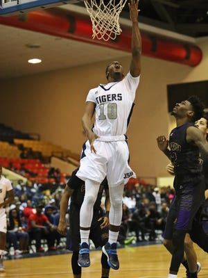JSU guard Raeford Worsham (10) was named SWAC men's basketball Player of the Week on Wednesday.