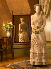 """This gown from the film """"Tess"""" is part of the """"Wedding Gowns in Film"""" exhibit at Biltmore."""