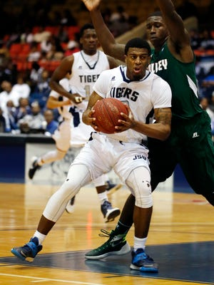 JSU guard Raeford Worsham will be one of two seniors, along with Kaven Bernard, honored on the Tigers' Senior Night.
