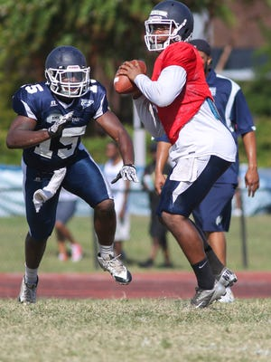 Quarterback LaMontiez Ivy, pictured last summer, is one of 15 to 16 JSU players who have started regularly in the past that return this year.