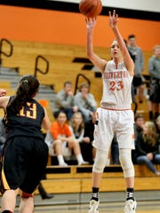 Silverton's Alia Parsons (23) is a finalist for the All-Mid-Valley girls basketball player of the year.