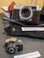 A Mycro Spy Camera from 1939 is one of the many cameras on display as a  part of  a Kingman Museum photography exhibit.