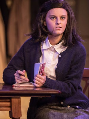 "Anne Frank (Averi Beck) in ""The Diary of Anne Frank"" at What A Do Theatre."