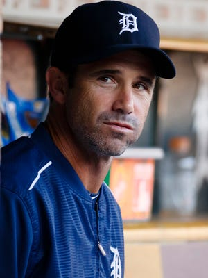 Tigers manager Brad Ausmus (7) in the dugout prior to the game against the Chicago White Sox Game thread: Tigers take 1-0 lead over Sale, White Sox