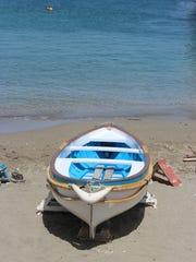 A small boat, Capri, Italy.