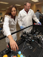 NMSU chemical engineering professor Jessica Houston,