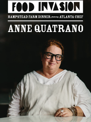 Chef Anne Quatrano will lead the Food Invasion on Thursday, Oct. 13, at Hampstead Farm.